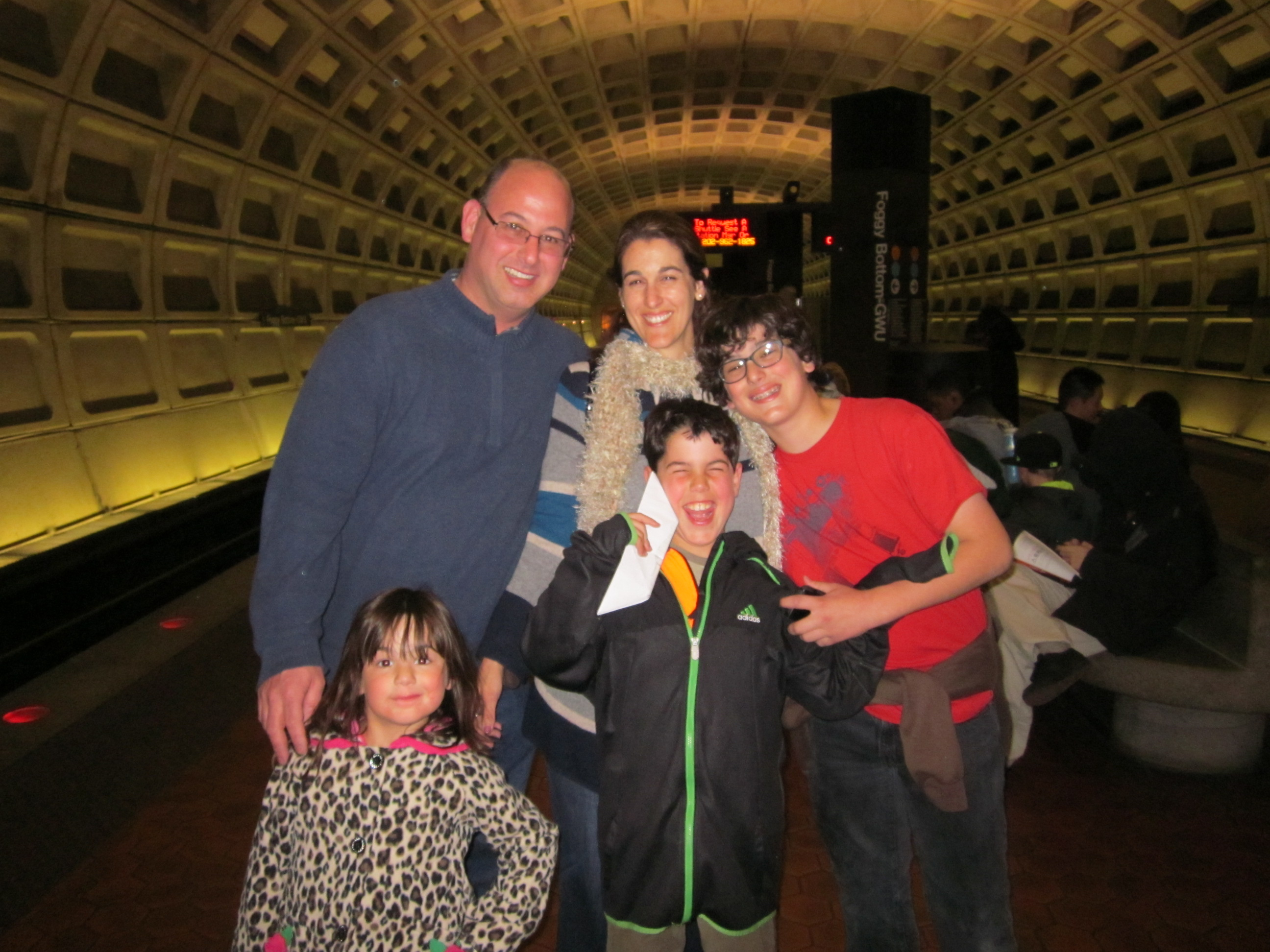 Family pictured at Jacob's Bar Mitzvah - Oct 2012